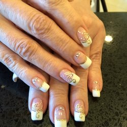 Pink & White Nail Art By Your Nails & Spa of Phoenix